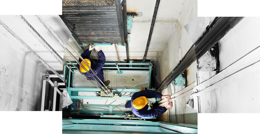 Maintenance rope replacement modernization. Elevator clipart elevator repair