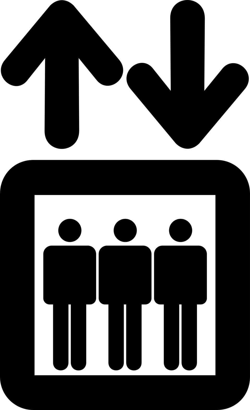 elevator clipart line art