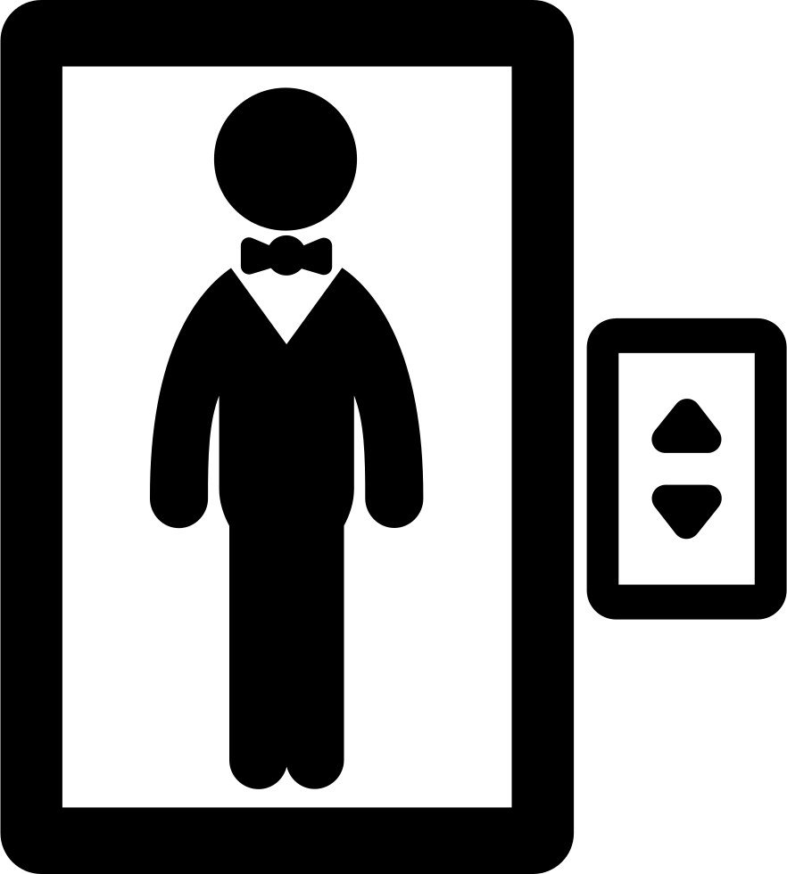 Elevator clipart transparent. Man in an svg