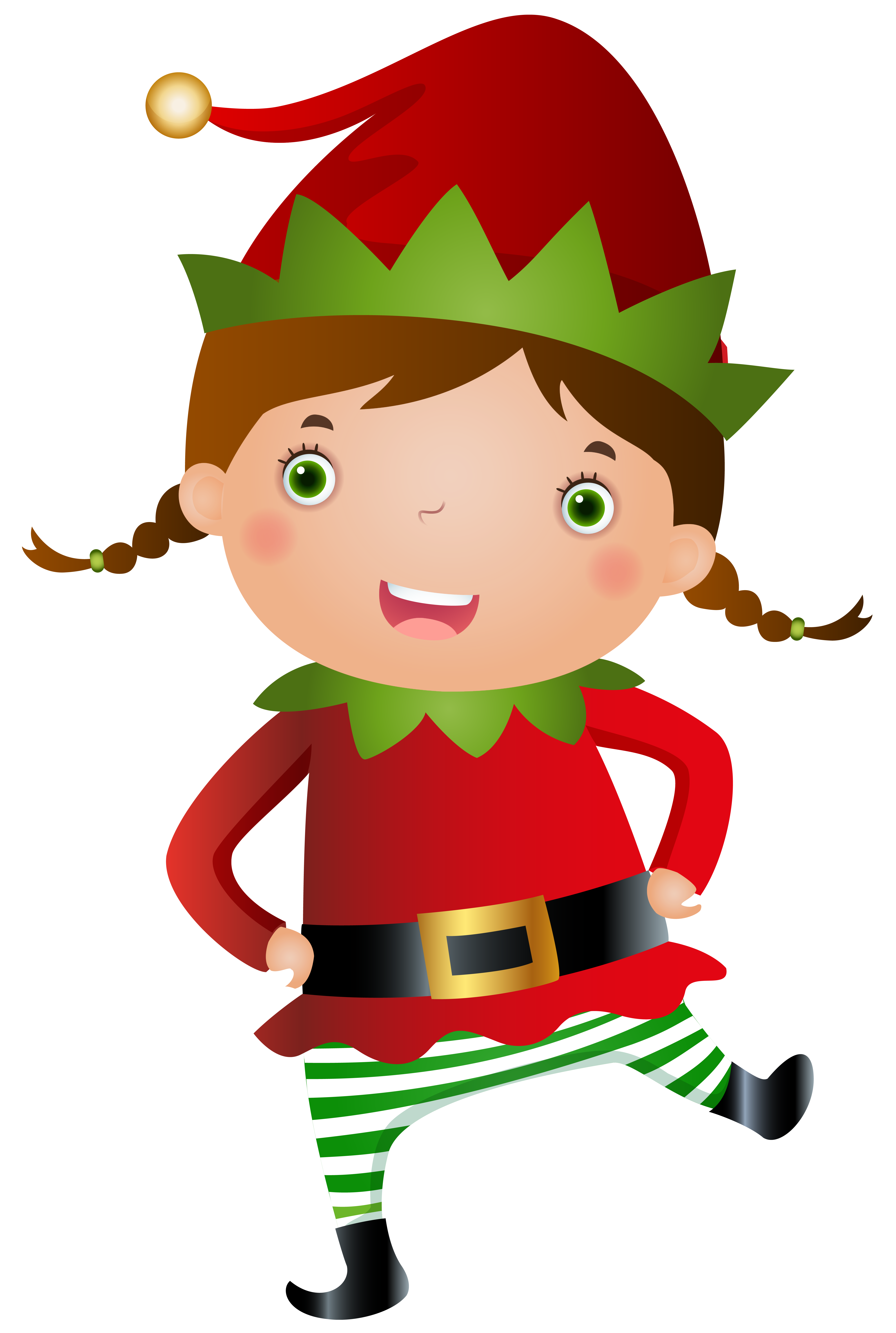 Elf girl transparent png. Lady clipart christmas