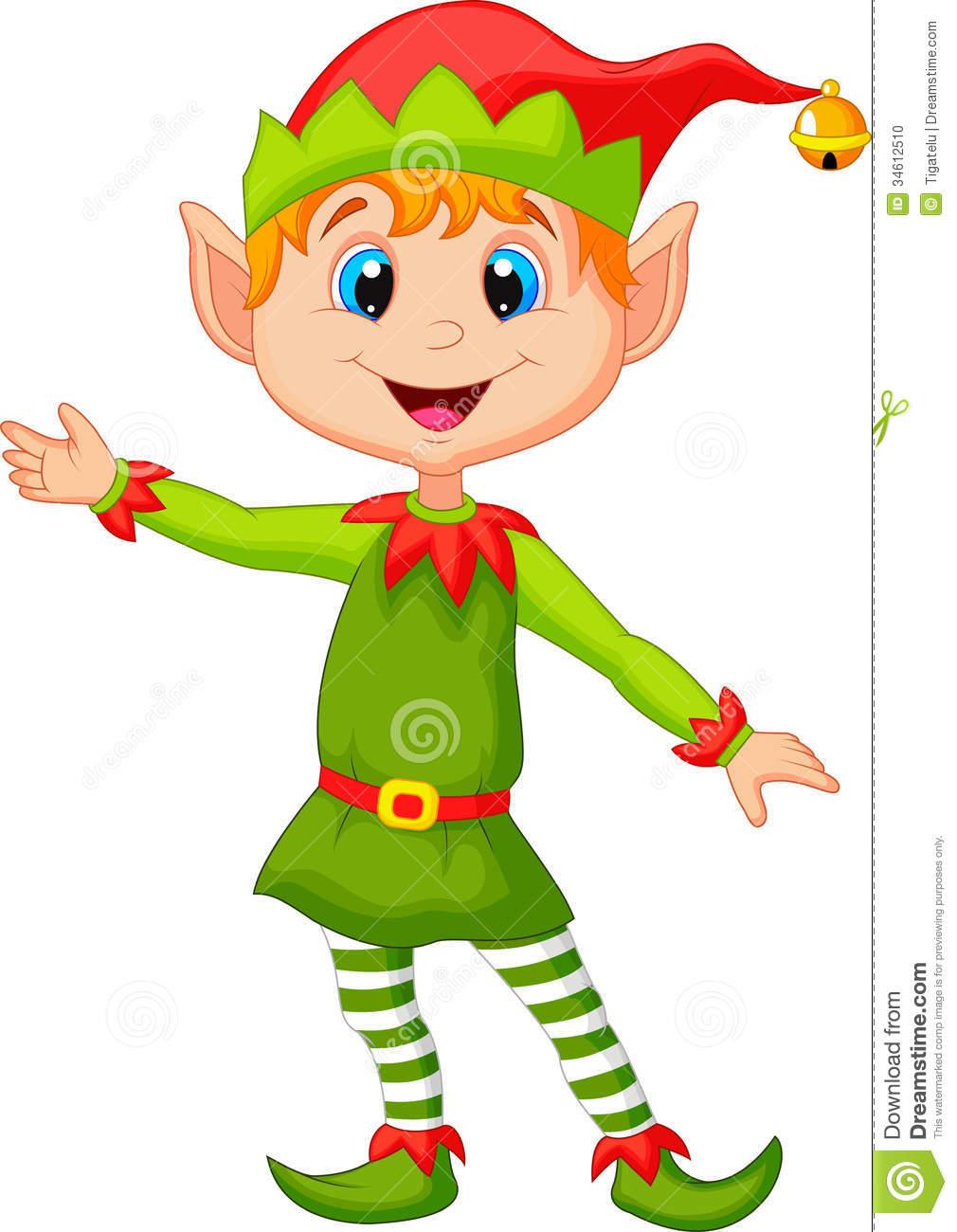 Cute cartoon . Elf clipart