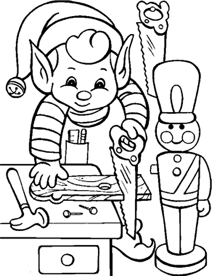 Elf pages free download. Gingerbread clipart coloring page