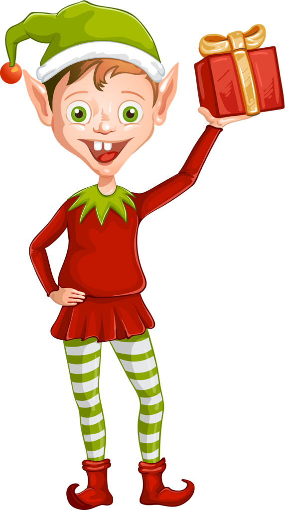 png elves clip. Gingerbread clipart angel