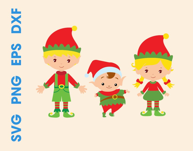 Little svg christmas elf. Elves clipart file