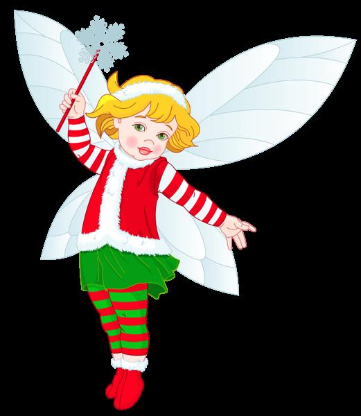 Free clipart fairy. Transparent christmas elf fairies