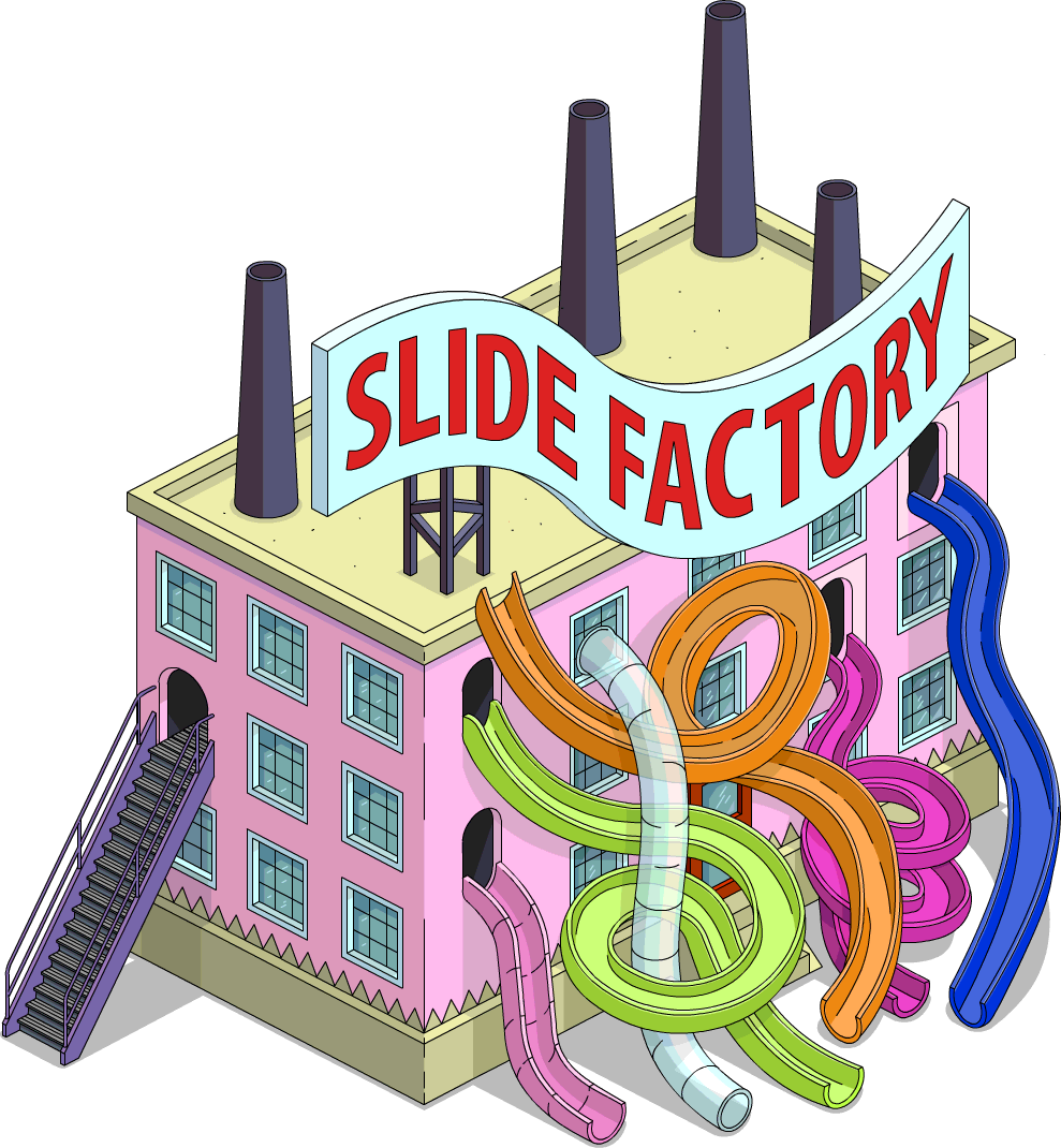Slide factory the simpsons. Palace clipart fish tank