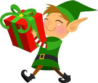 Elves clipart gift. Clip art of a