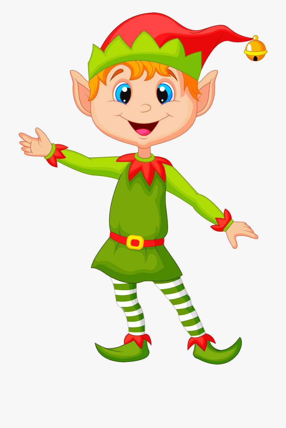 Elf png excited cartoon. Elves clipart boy