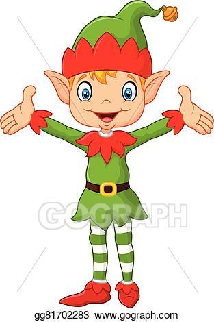 Eps illustration cute green. Elf clipart hands