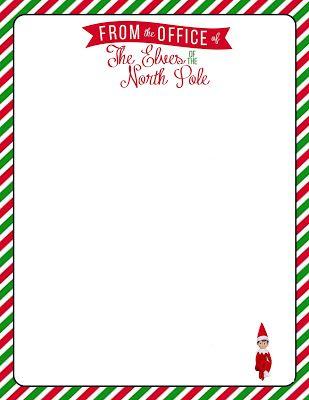 Elves clipart letterhead. Free printable for your