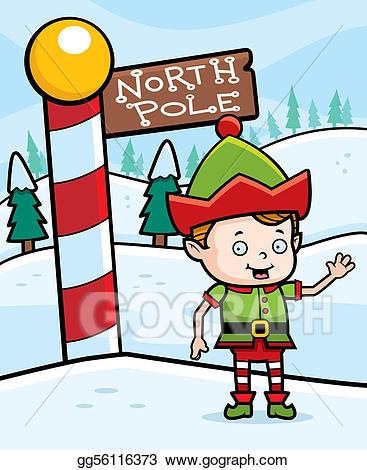 Elves clipart north pole. Vector elf illustration