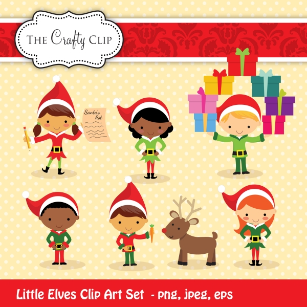 Little set by the. Elves clipart north pole