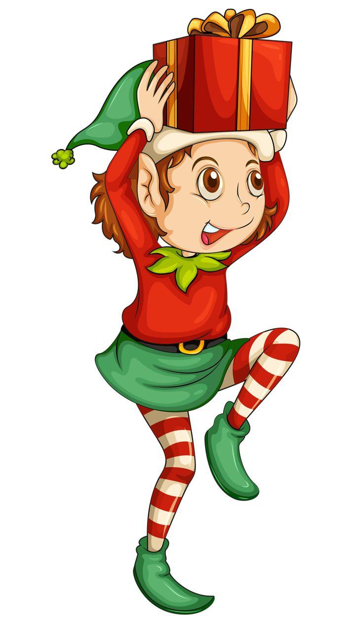 Elves clipart gift. Free elf download clip