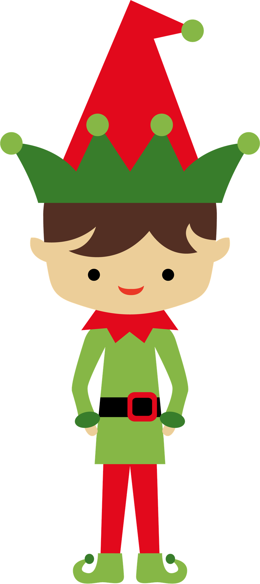 Christmas elf with candy. Elves clipart printable