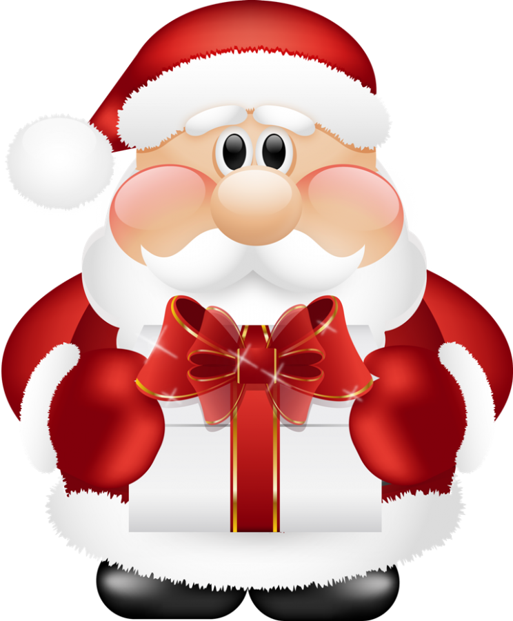 What did bring for. Father clipart christmas santa claus