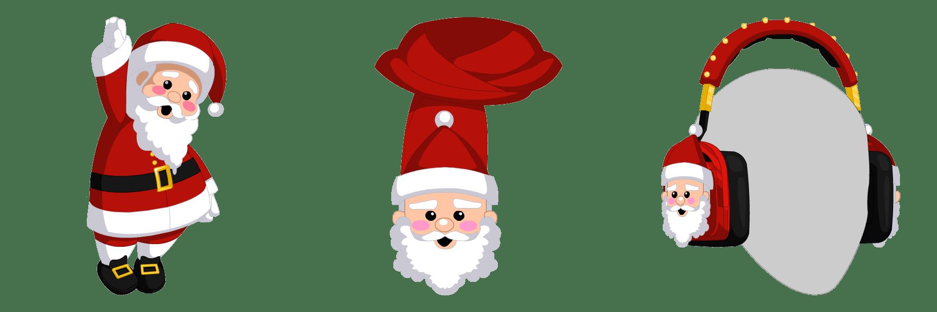 Headphone clipart santa claus. Caroling the ourworld news