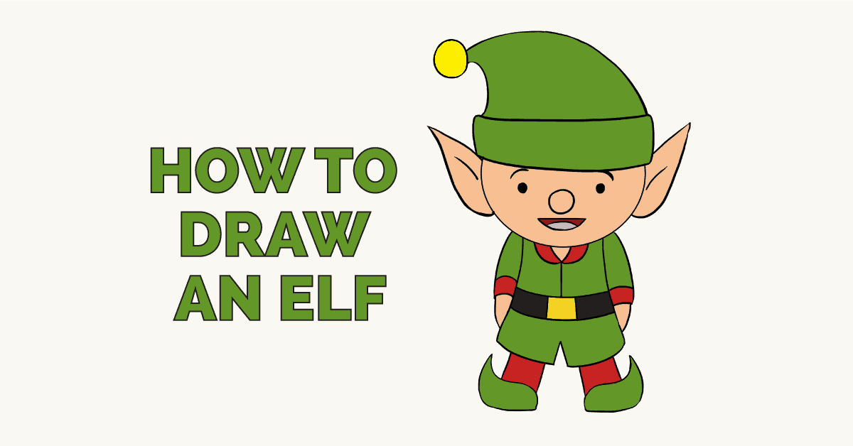 How to draw an. Elf clipart simple