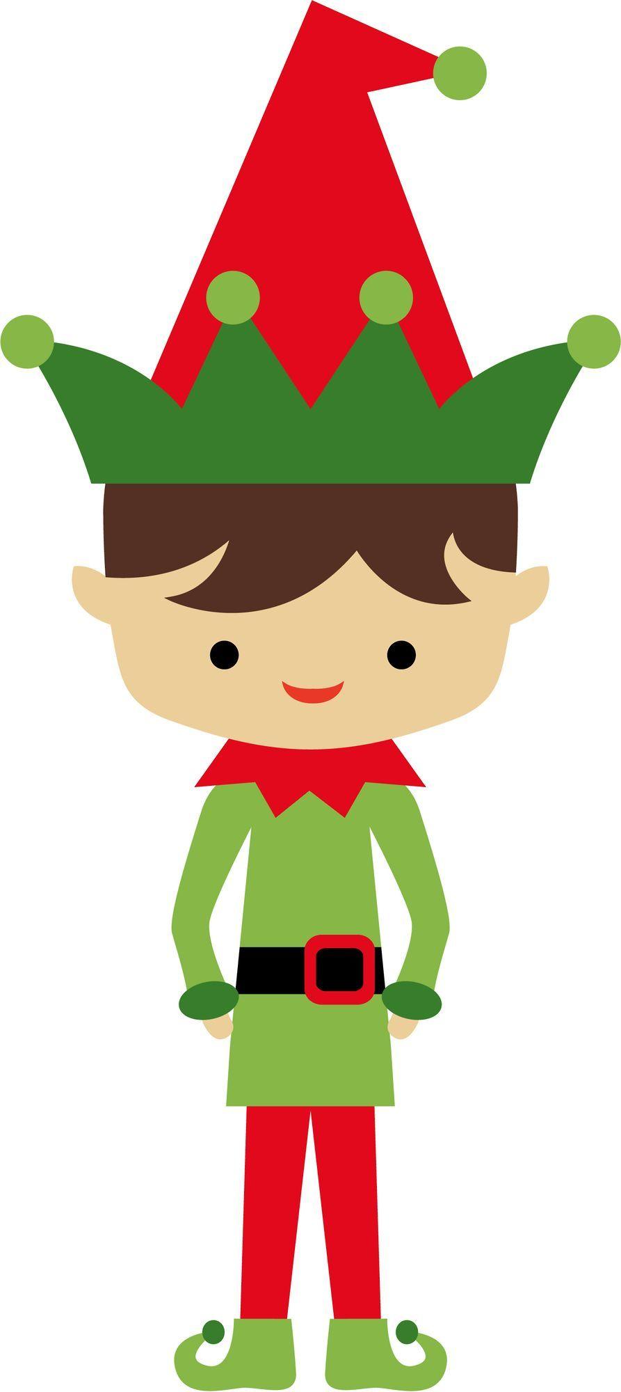 Elf clipart sticker. Minus say hello christmas