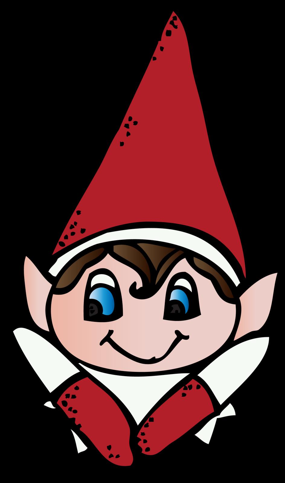 Elf on the shelf. Elves clipart secret