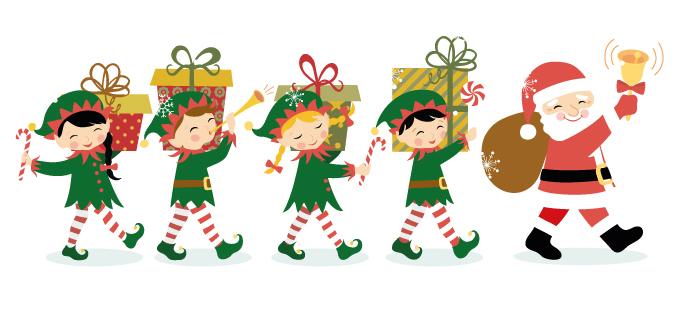 Elves clipart workshop. Free santa cliparts download