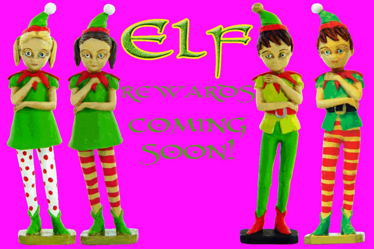 Girl boy reward toy. Factories clipart elf