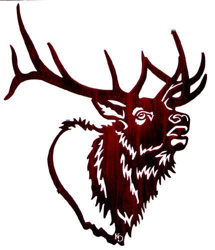 Head clip art drawing. Elk clipart
