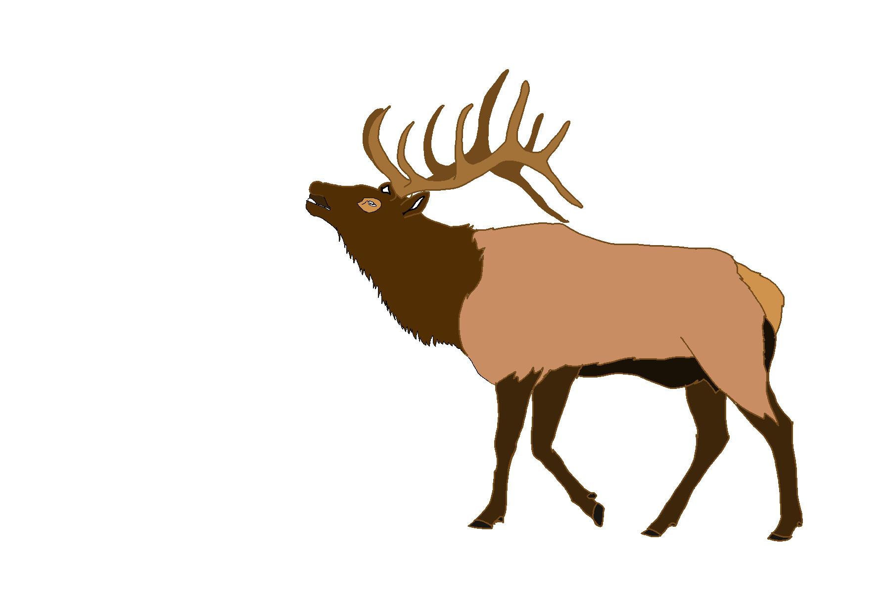 Elk clipart. Antlers clip art panda