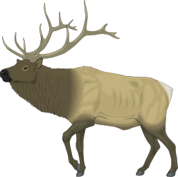 Clip art panda free. Elk clipart