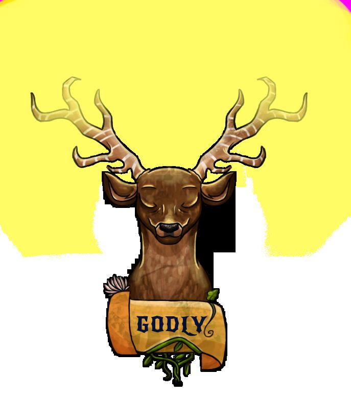 The deer god light. Elk clipart angry