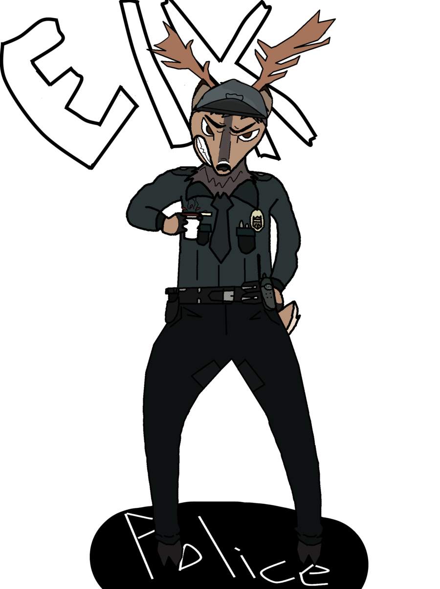Elk clipart angry. Commission for castorabigale police
