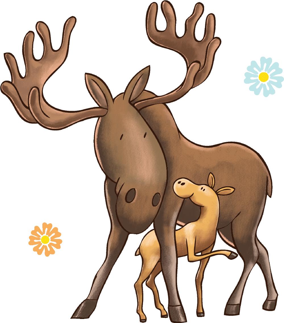 Colorado best start program. Moose clipart illustration