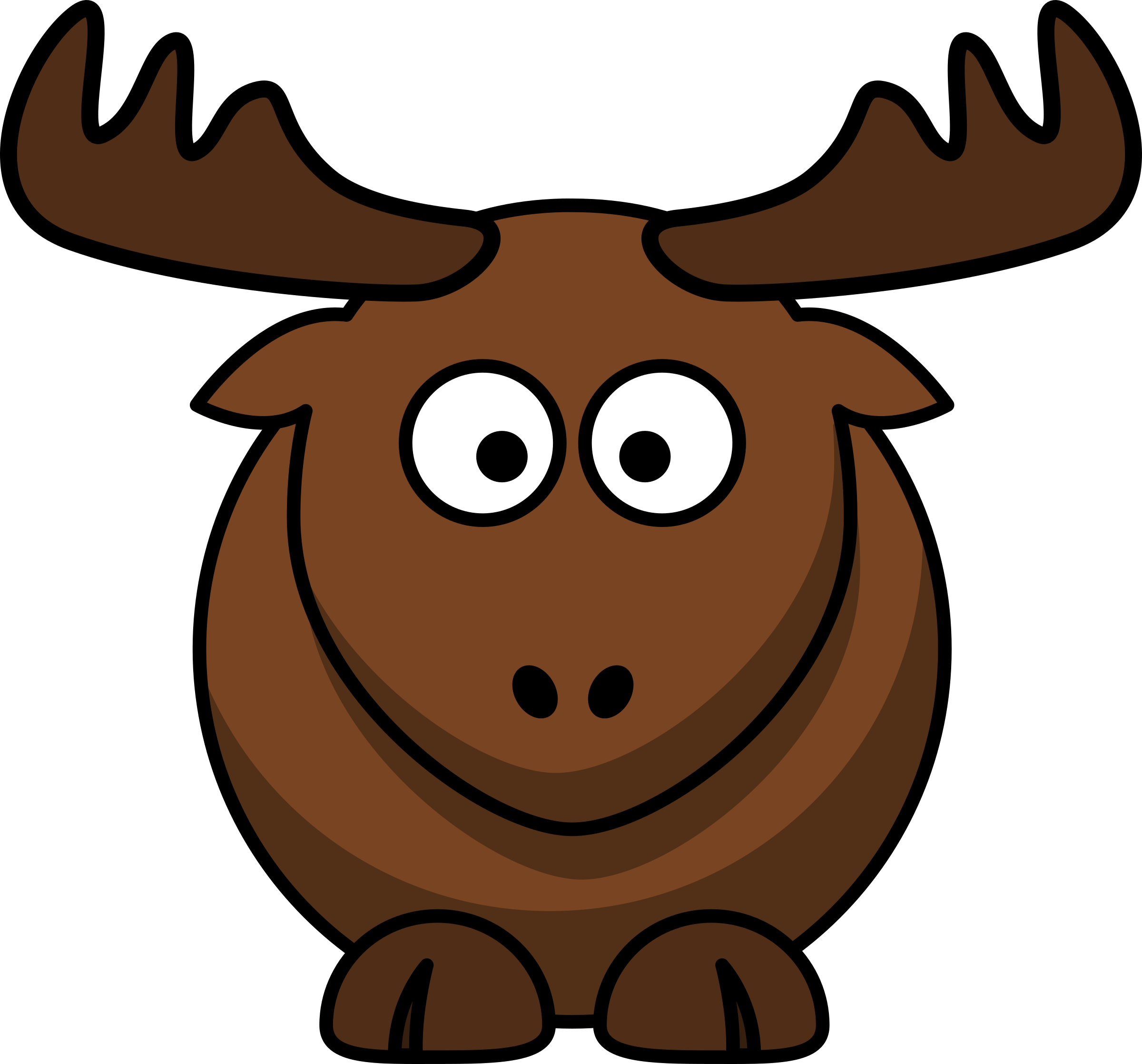 Cartoon free clip art. Moose clipart comic
