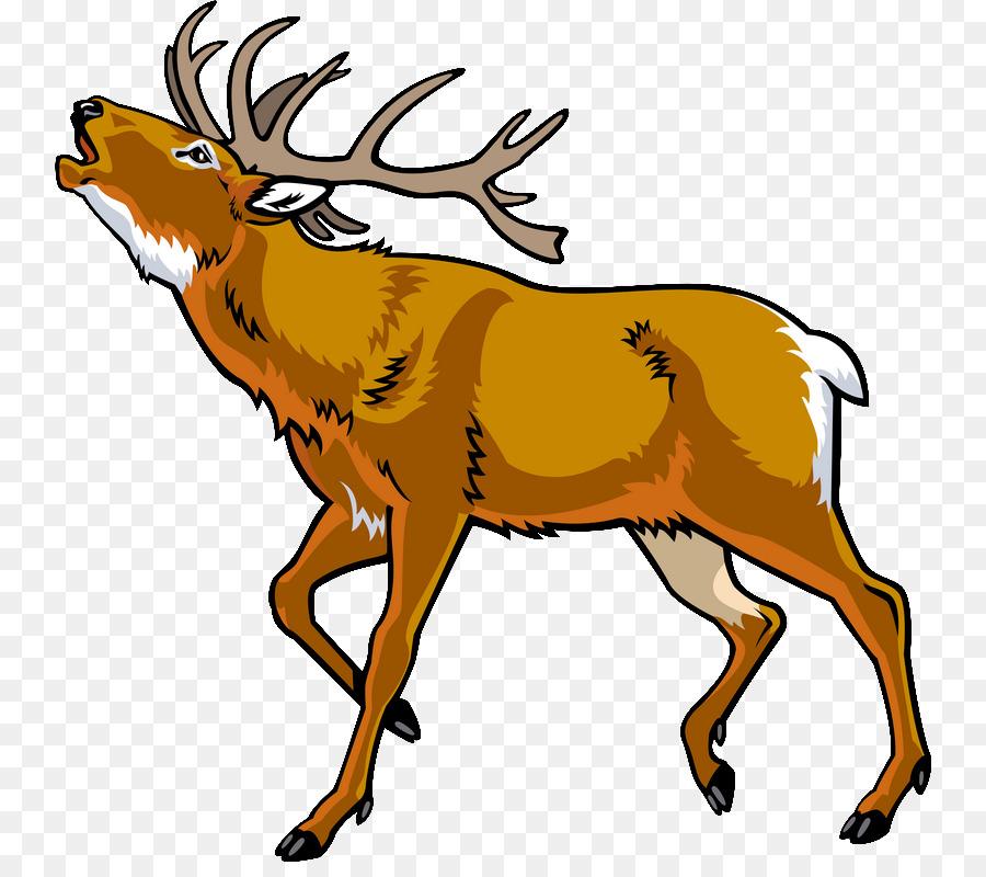 Elk clipart dear animal. Cartoon deer illustration graphics