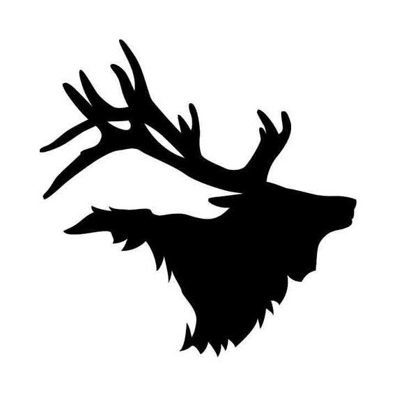 Bull mount vector eps. Elk clipart dxf