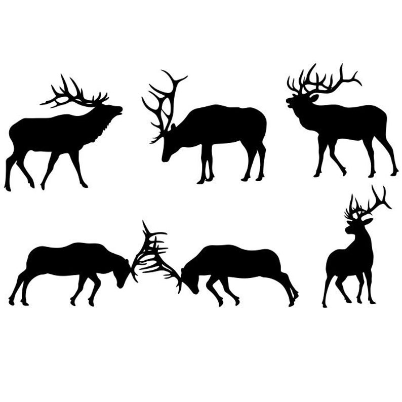 Elk clipart dxf. Silhouettes eps pdf png
