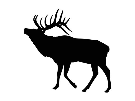 Svg hunting silhouette cutting. Elk clipart dxf
