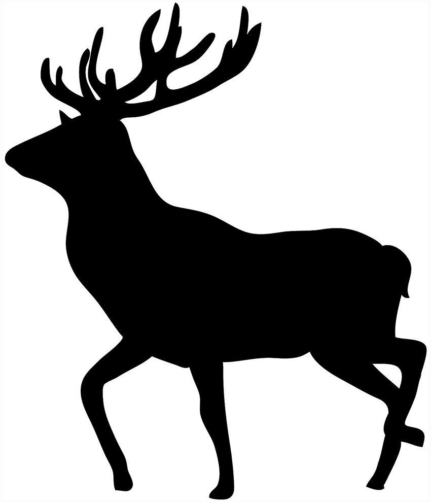 Elk clipart male deer. Unique bugling head silhouette