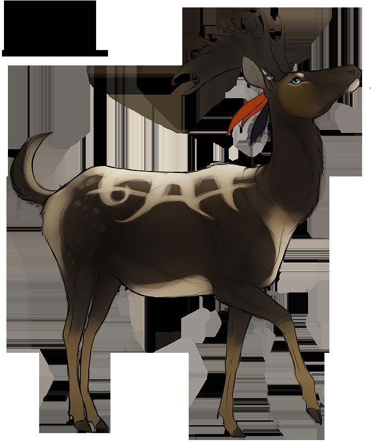 Amelia commission by cobravenom. Elk clipart sambar deer