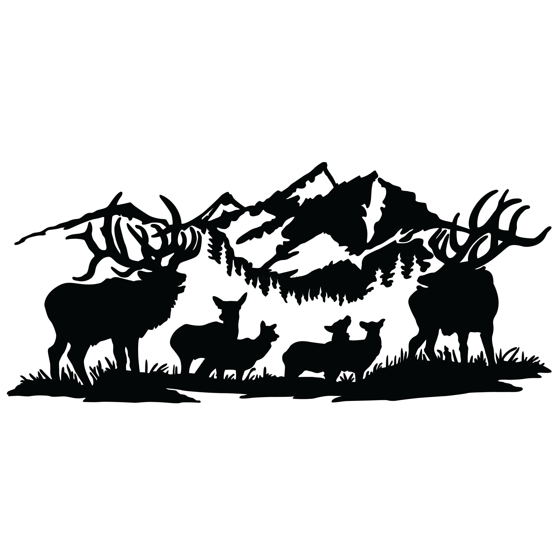 Elk clipart scene. Free camping download clip