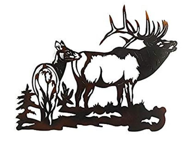 Free download clip art. Elk clipart scene