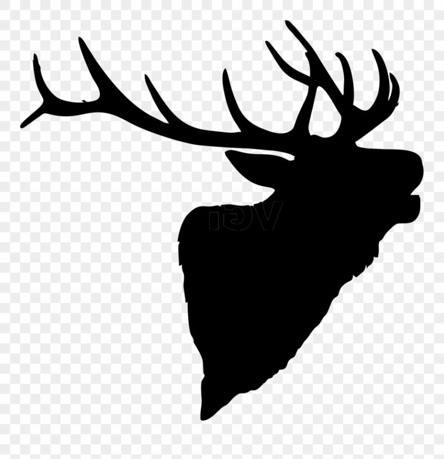 Hd silhouette clip art. Elk clipart vector