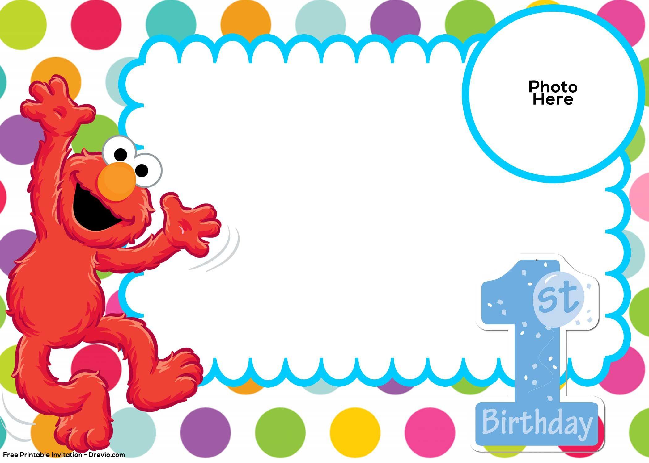 Free sesame street st. Elmo clipart 1st birthday