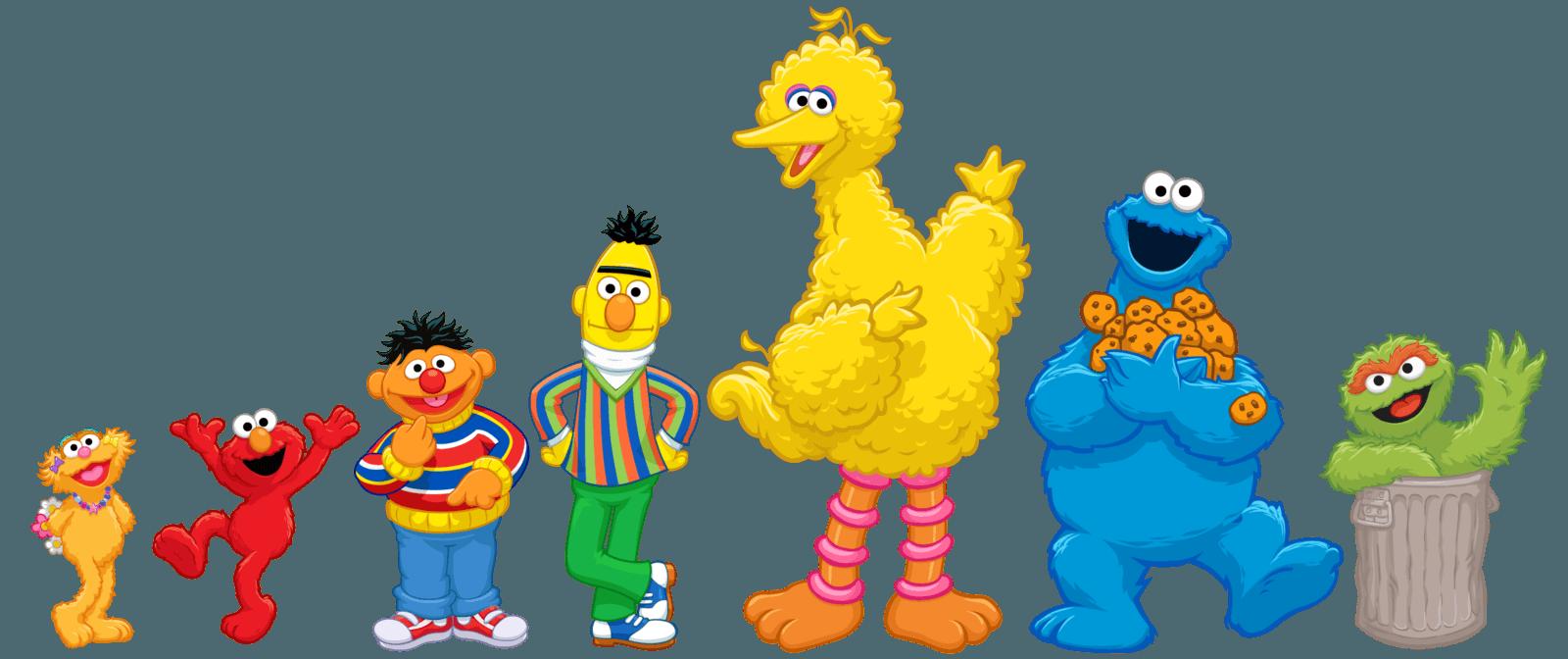 Sesame street characters clip. Elmo clipart big bird