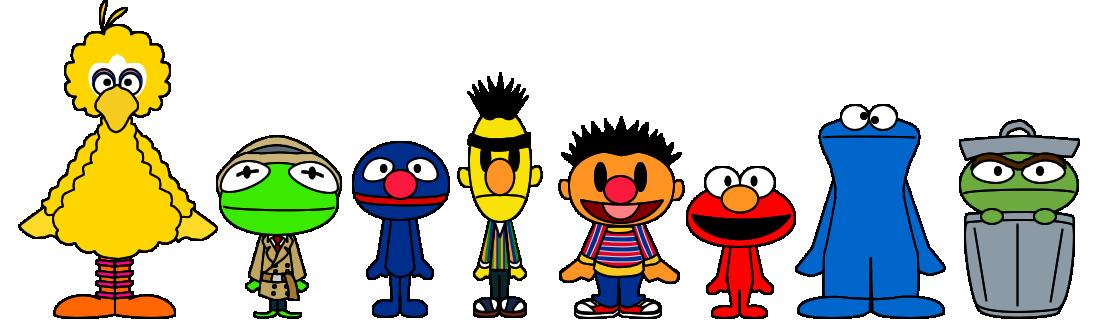 Sesame street pacs by. Elmo clipart chibi
