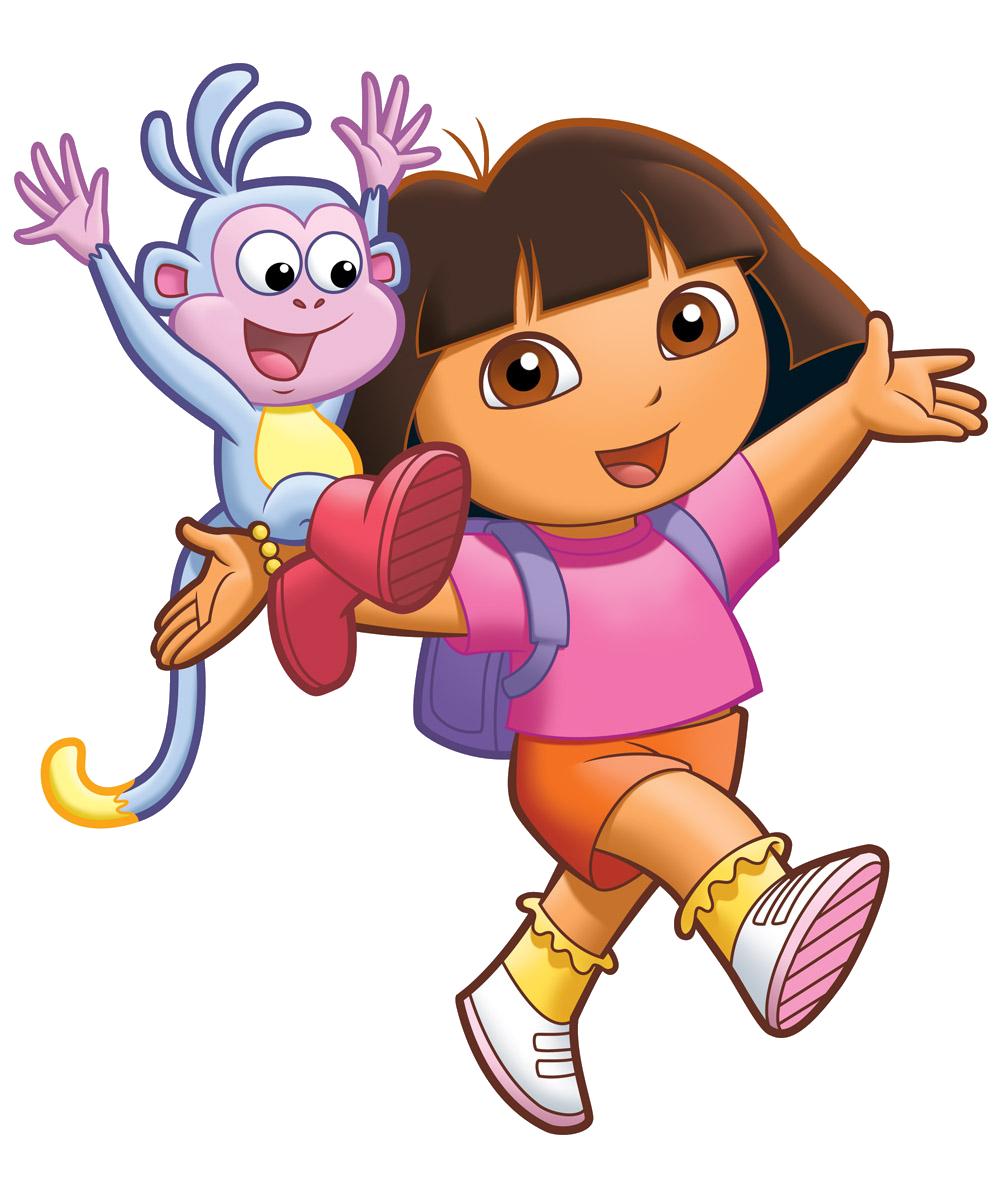 Cartoon characters dora the. Explorer clipart character pixar