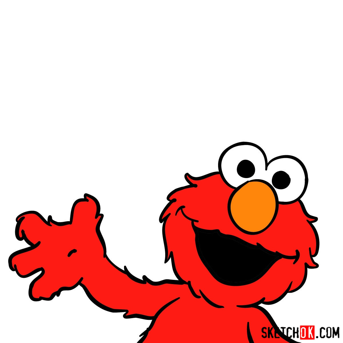 How to draw the. Elmo clipart drawing