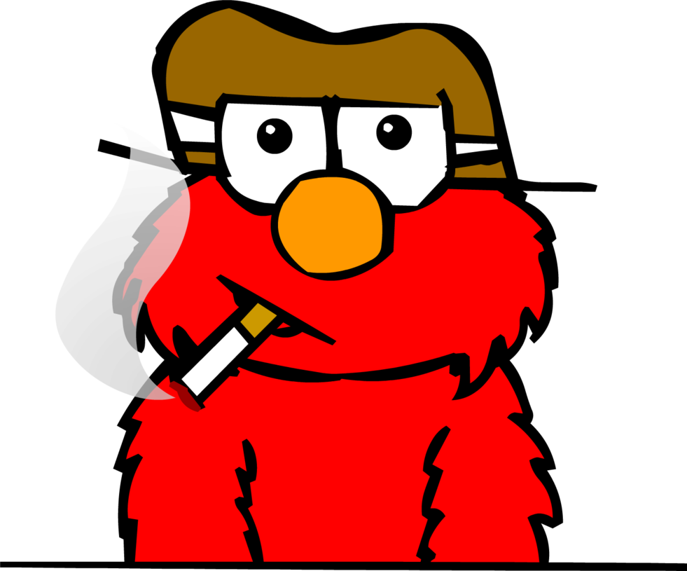Gangster full view only. Elmo clipart drawing