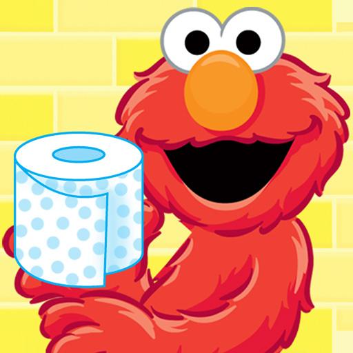 Sesame street child yellow. Elmo clipart elmo potty