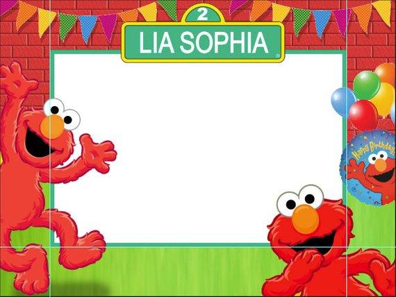 Birthday frames photo booth. Elmo clipart frame