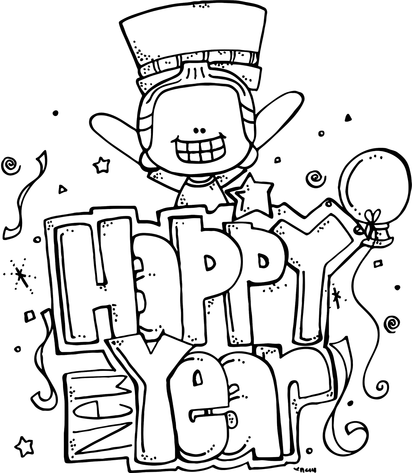 Coloring printable fireworks pages. Elmo clipart happy new year